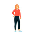 full length confident woman standing vector image