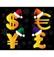 gold currency xmas vector image vector image