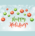 happy holidays greeting card vector image