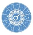 Horoscope circle for manZodiac signgender vector image vector image