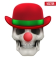 Human skull clown Front view vector image vector image