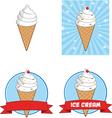 Ice cream cartoon vector image vector image