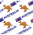 kangaroo and australian national flag seamless vector image vector image