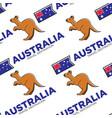 kangaroo and australian national flag seamless