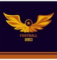 logo template soccer football team Wings vector image vector image