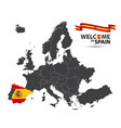 map of europe with the state of spain vector image vector image