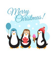 merry christmas winter holidays with vector image vector image