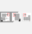 minimal design background in black red white vector image vector image
