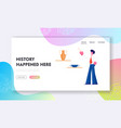 museum ancient history website landing page vector image vector image
