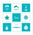 Nautical and sea icons badges and labels