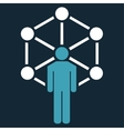 Network icon from Business Bicolor Set vector image vector image