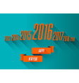 New year 2016 wishes card vector image vector image