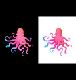 octopus colorful futuristic character design vector image vector image