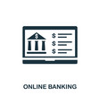online banking icon line style icon design from vector image vector image