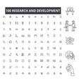 research and development editable line icons 100 vector image vector image