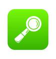 school loupe icon green vector image vector image