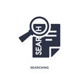 searching icon on white background simple element vector image vector image