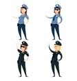 set police women vector image vector image