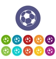 Soccer ball set icons vector image vector image