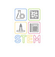 stem word with icons modern outline vector image