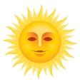 Sun face vector image vector image