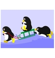 three penguins vector image vector image