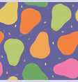 violet seamless pattern with pear vector image