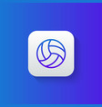 volleyball line icon isolated on gradient vector image