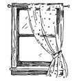 window similar mechanism vintage engraving vector image vector image