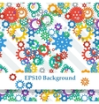 Abstract Background with Colorful Gears vector image