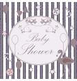 baby shower congratulations card vector image