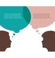 man and woman talks vector image
