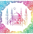 Islamic mosque and ornament vector image