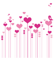 red heart flowers background vector image