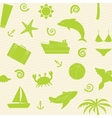 Seamless pattern with travel icons vector image