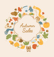 abstract autumn sales poster vector image vector image
