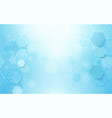 abstract blue hexagons shape and lines background