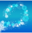 Abstract Christmas frame with snowflakes vector image vector image