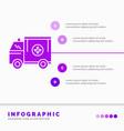 ambulance truck medical help van infographics vector image vector image