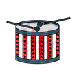 american drum isolated icon vector image vector image