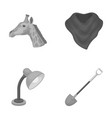 animal lighting and other monochrome icon in vector image vector image