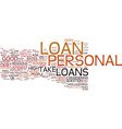 are personal loans a good idea for me text vector image vector image