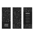 asian food menu template main dishes appetizers vector image