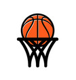 basketball logo simple vector image vector image