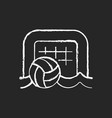 beach soccer chalk white icon on dark background vector image