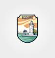 biscayne national park sticker patch logo symbol vector image vector image