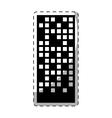black building line sticker image vector image vector image