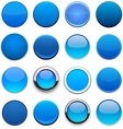 Blue high-detailed round web buttons vector | Price: 1 Credit (USD $1)