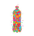 bottle icon set dot color vector image