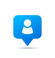 bright blue trendy icon for social network person vector image